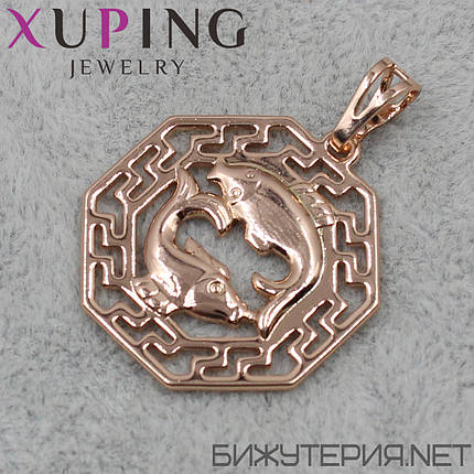 Знак Зодиака Рыбы Xuping медицинское золото 18K Gold - 1021931836, фото 2