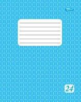 Тетрадь 24 листа, линия эконом класса, голубая обложка