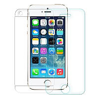 Защитное стекло 2in1 Premium Tempered Glass 0,26mm (2,5D) для Apple iPhone 5/5S переднее+заднее, фото 1