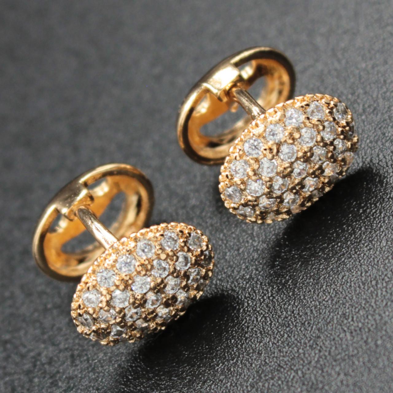 "Серьги женские ""Виринея"" Xuping Jewelry (позолота)."