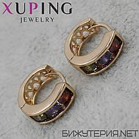 Серьги Xuping медицинское золото 18K Gold - 1029265892