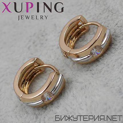 Серьги Xuping медицинское золото 18K Gold - 1029272039, фото 2