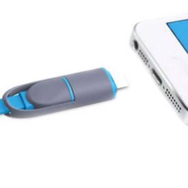 Кабель универсальный USB Lightning  + microUSB  2 в 1  (S02020)