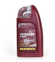 Моторное полусинтетическое масло MANNOL 7812 Motorbike 4-Takt 1л.