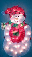 """Новогоднее панно """"Снеговик"""" 45х25 см"""