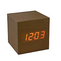 Электронные настольные часы под дерево 869-1   (S02195)