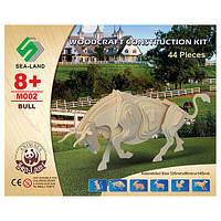 Конструктор M002 дерев'яні пазли 3D, бик, 44 дет., кор., 23-18,5-1,5 см.