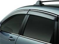 Дефлекторы окон Honda CRV 2007- с хром молдингом | Ветровики Honda