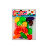 Продукты 8696 (180шт) на липучке, овощи/фрукты, 18шт, от4см, в кульке, 19,5-25-6см