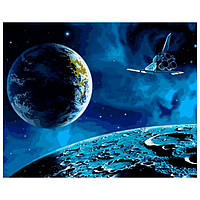 Картина раскраска по номерам на холсте 40*50см Babylon VP741 На Луну и обратно