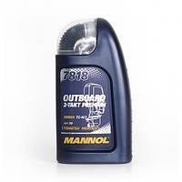 Моторное синтетическое масло MANNOL 7818 OUTBOARD 2-Takt Premium 1л.