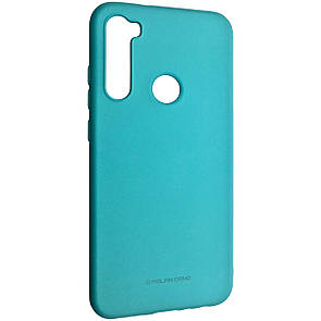 Чехол-накладка Silicone Hana Molan Cano для Xiaomi Redmi Note 8 (mint)