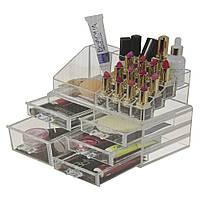 Акриловый органайзер для косметики Cosmetic Storage Box 5 секций  (S02863)