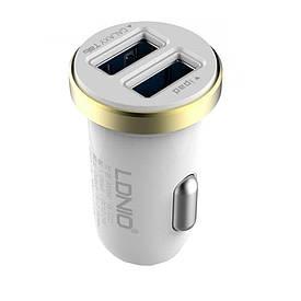 Автомобильное зарядное устройство LDNIO 2USB +кабель nks1 5/6/7 DL-C22  (S02925)