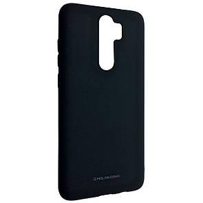 Чехол-накладка Silicone Hana Molan Cano для Xiaomi Redmi Note 8 Pro (black)