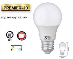 Світлодіодна лампа HOROZ ELECTRIC PREMIER-10 A60 10 Вт 3000K E27