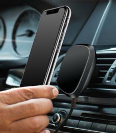 Автомобильное зарядное устройство DK Pin Wireless Magnet 10W (black)