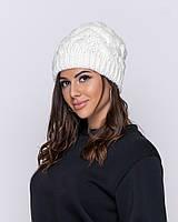Очень теплая шапка на суровую зиму белый