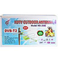 Антенна для телевизора с усилителем DVB-T2 HD-208E  (S03397)