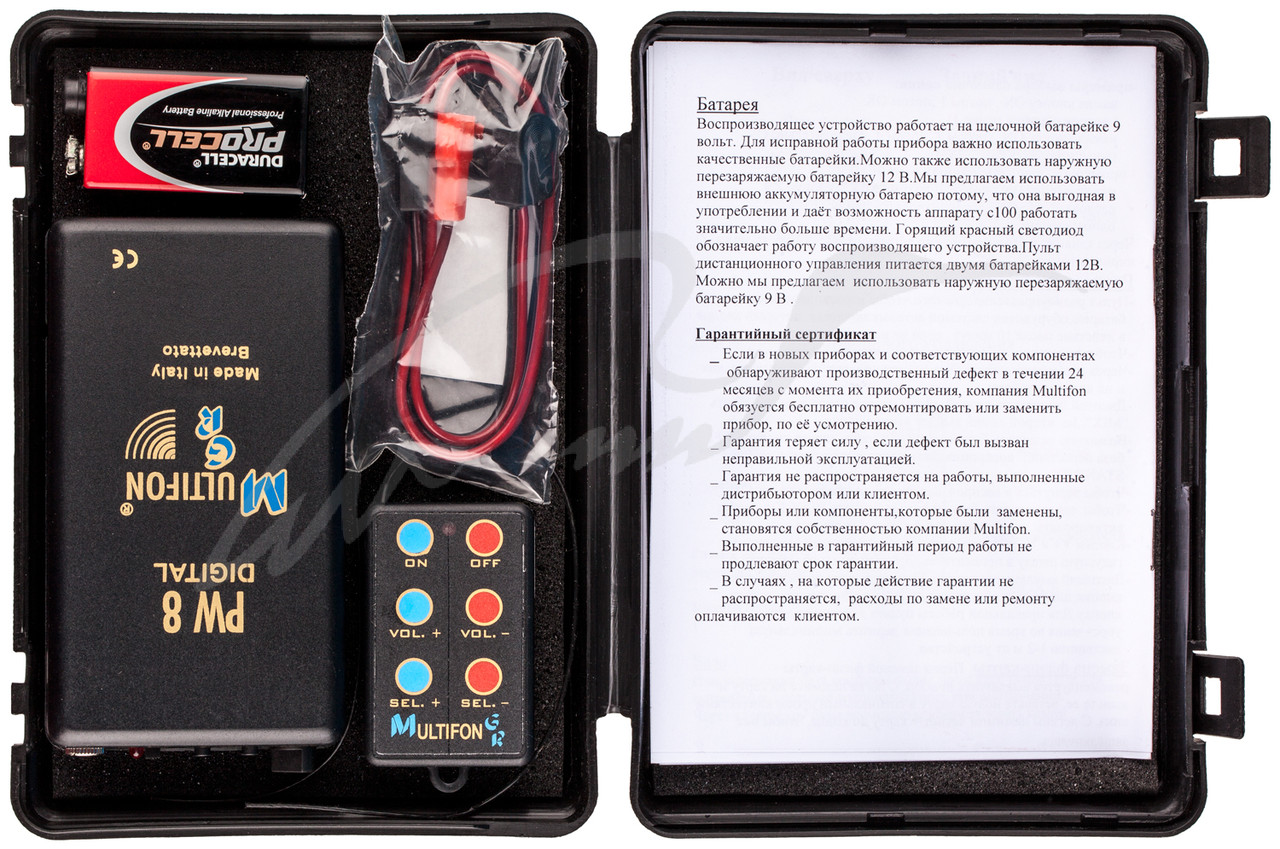 Эл. манок Multifon PW8 c дист.упр..на 8 дорожек с чипами E4