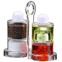 Набор для масла, уксуса, перца и соли, Spice Jar. O.V.S.P. Stack Dispenser Set  (S03973)