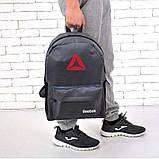 Рюкзак Reebok, рібок. Популярна модель. Сірий / R3, фото 3