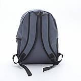 Рюкзак Reebok, рібок. Популярна модель. Сірий / R3, фото 5
