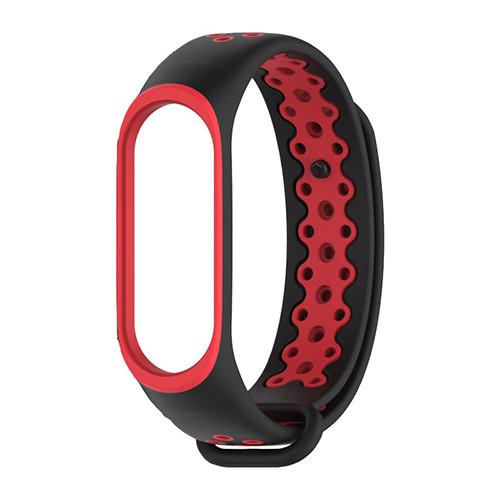 Ремешок для фитнес-браслета Mi Band 4 - Красно-черный