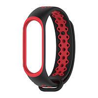 Ремешок для фитнес-браслета Mi Band 4 - Красно-черный, фото 1