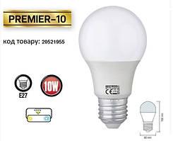 Світлодіодна лампа HOROZ ELECTRIC PREMIER-10 A60 10 Вт 4200K E27