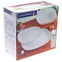 Столовый сервиз LUMINARC LOTUSIA white 18 предметов (H3527)