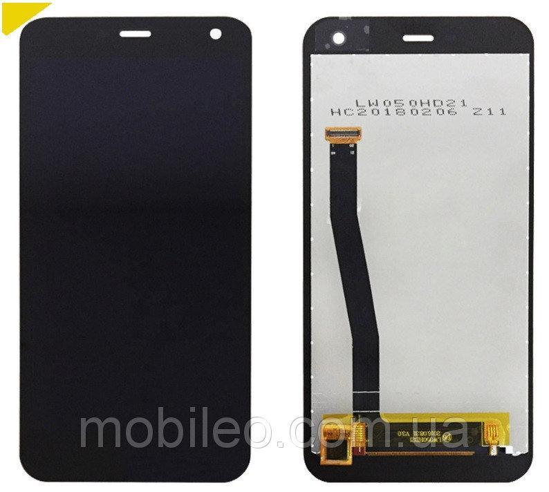 Дисплей (LCD) Nomu S20 с тачскрином, черный