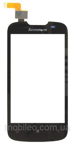 Сенсорный экран (тачскрин) Lenovo A690 чёрный ориг. к-во