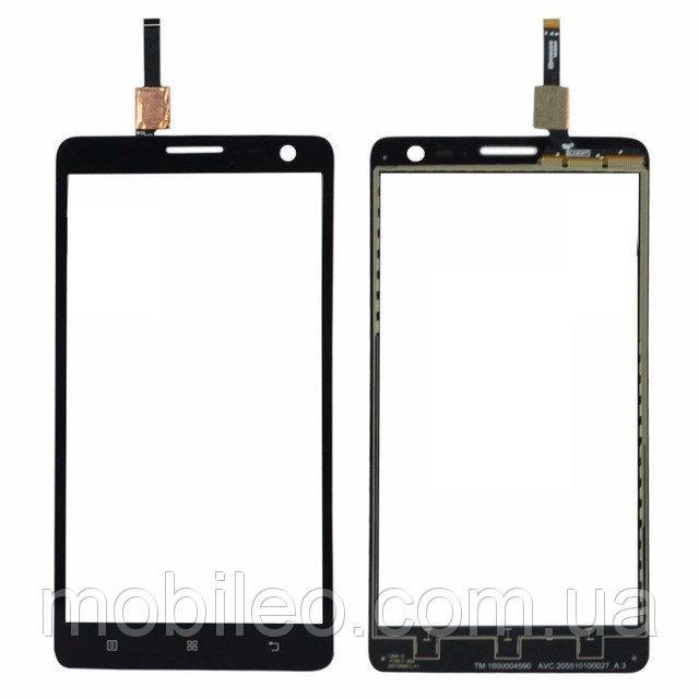 Сенсорный экран (тачскрин) Lenovo S810T   S856 чёрный ориг. к-во