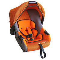 Детское переносное автокресло люлька SIGER Эгида Люкс Оранжевый до 1,5лет до 13 кг категория 0+