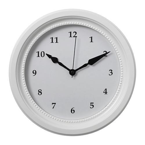 ИКЕА (IKEA) СЁНДРУМ, 503.919.11, Часы, белый - ТОП ПРОДАЖ