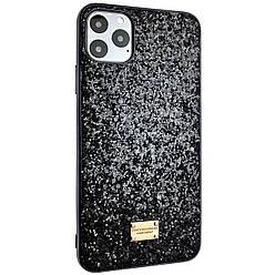 Чехол DK Silicone Form Diamond Shine Apple iPhone 11 Pro Max (black)
