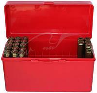 Коробка MTM RM-60 на 60 патронов кал. 222-250 Rem; 243 Win; 7,62x39 и 308 Win. Цвет – красный.