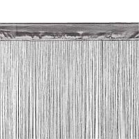 Штора нитка NISSER 1х90x245см сірий