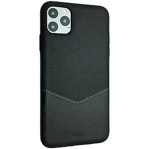 Чехол-накладка DK Silicone Form Leather Mikki для Apple iPhone 11 Pro Max (black)