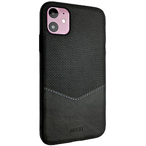 Чехол DK Silicone Form Leather Mikki Apple iPhone 11 (black)