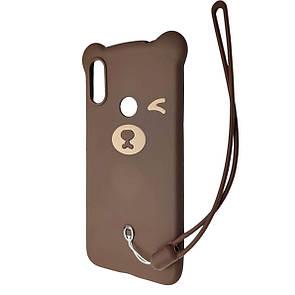 Чехол DK Silicone Winking Bear Xiaomi Redmi Note 7 Pro (04)