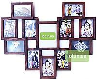 """Коллаж  #812 """"сердце"""", дерево, орех,  бесцветный, белый, чёрный, венге, серый., фото 1"""