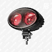 Фонарь FB-WL10O сигн. LED для погрузчика, 10 Вт, овальный, Cree (красный)