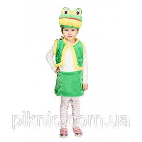 Костюм Лягушки 3,4,5,6 лет Детский новогодний карнавальный костюм Жабки для девочки, фото 2