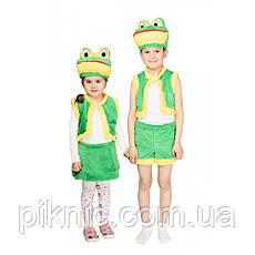 Костюм Лягушки 3,4,5,6 лет Детский новогодний карнавальный костюм Жабки для девочки, фото 3