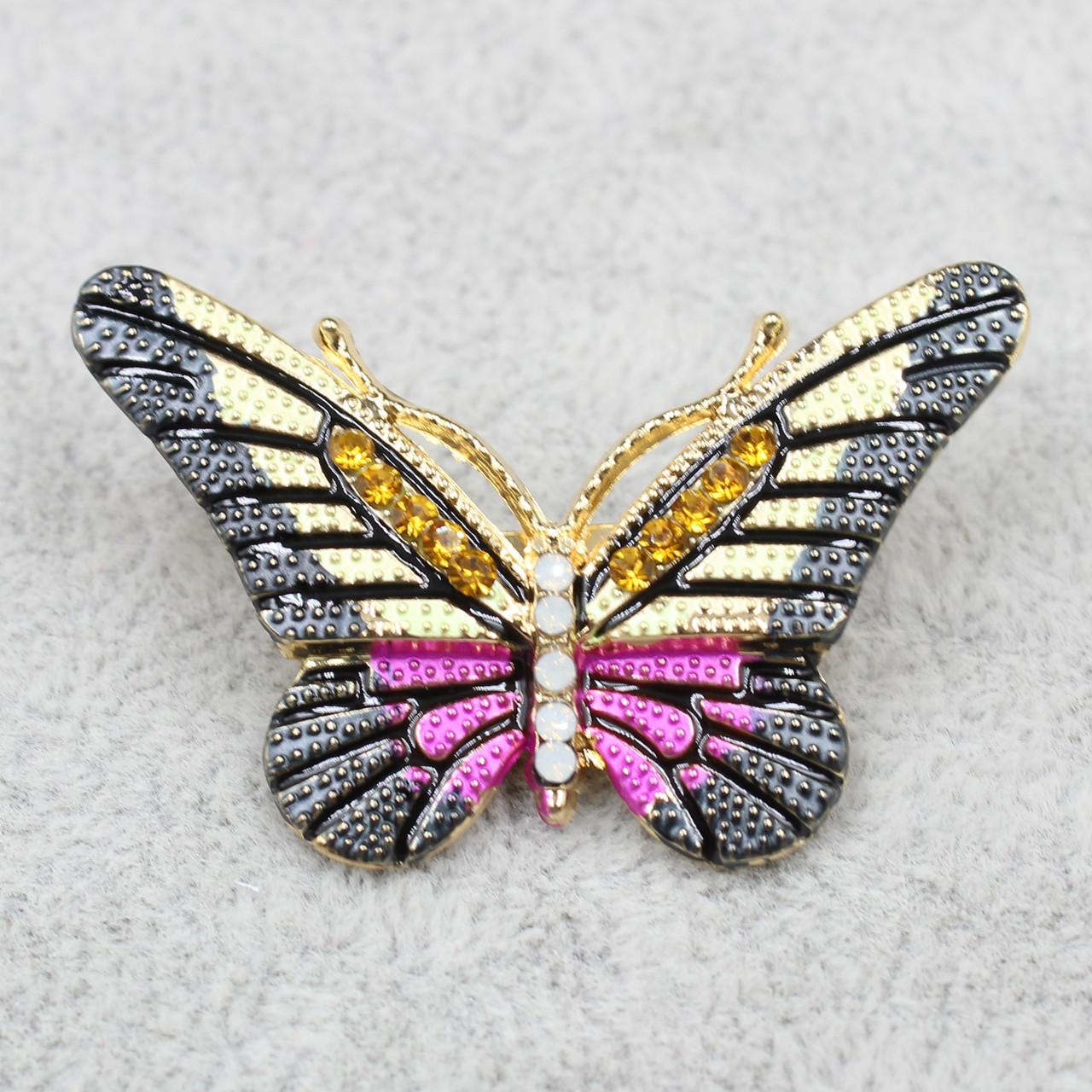 """Брошь в виде бабочки """"Yahim Pink"""""""