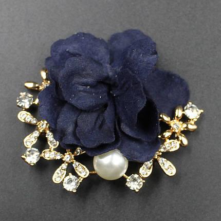 """Брошь в виде цветка """"Raveniya blue"""", фото 2"""