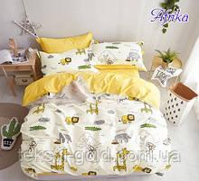 Детский комплект постельного белья с компаньоном Afrika ТМ TAG ранфорс хлопок 160х220
