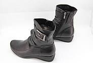 Женские черные ботинки Battine B654, фото 3